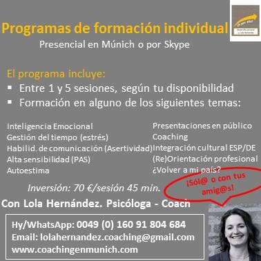 Programa formación individual