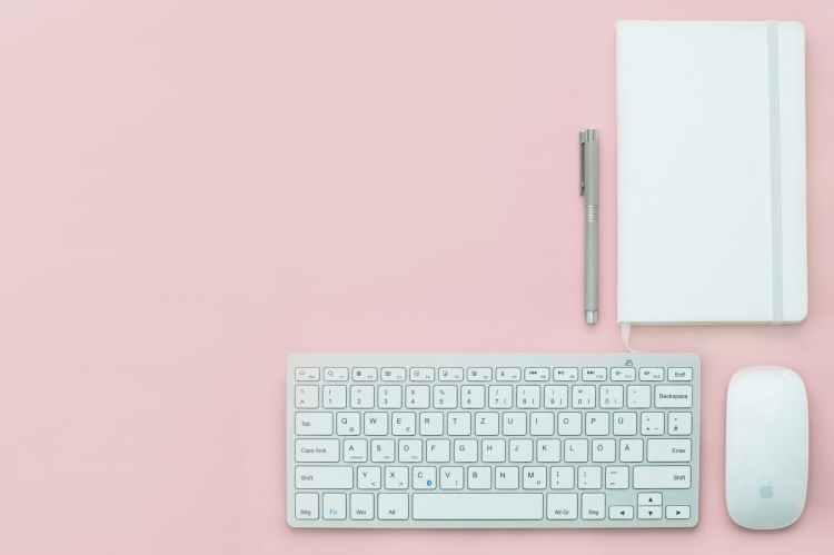 apple background desk electronics