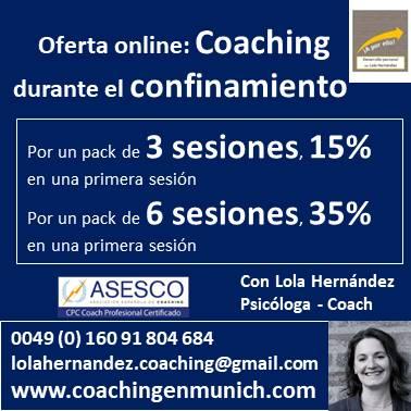 oferta coaching por confinamiento